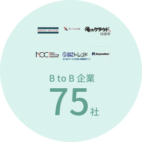 B to B 企業 75社