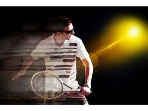 テニスプレーヤーの画像